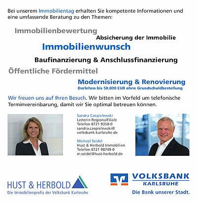 Immobilientag bei der Volksbank Karlsruhe. Grafik: pm