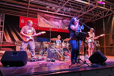 Band Seven#Nine beim Kultursommer Durlach am Samstagabend. Foto: pm