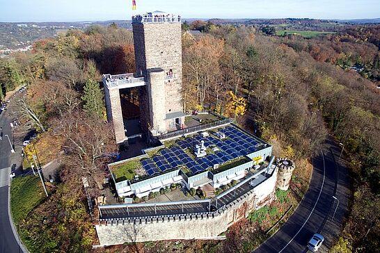 03 Durlach aus der Vogelperspektive - Luftbilder von der Markgrafenstadt – fotografiert von Peter Eich. (30 Fotos)