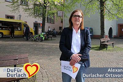 Ortsvorsteherin Alexandra Ries wendet sich mit einem Ostergruß an die Bürgerinnen und Bürgern der Markgrafenstadt. Foto: cg