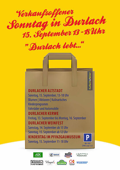 Verkaufsoffener Sonntag 2019 in Durlach. Grafik: durlacherleben