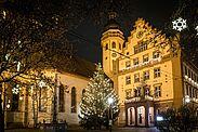 Weihnachtsstimmung auf dem Durlacher Marktplatz. Foto: cg