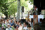 Ökumenischer Gottesdienst im Durlacher Schlossgarten. Foto: cg