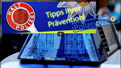 Badisch Bühn trifft Polizei - Gemeinsam gegen Telefonbetrüger. Screenshot: pol/Bearbeitung: om