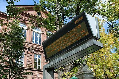 Die Haltestelle Friedrichschule wird am Sonntagnachmittag ersatzlos aufgehoben. Foto: cg