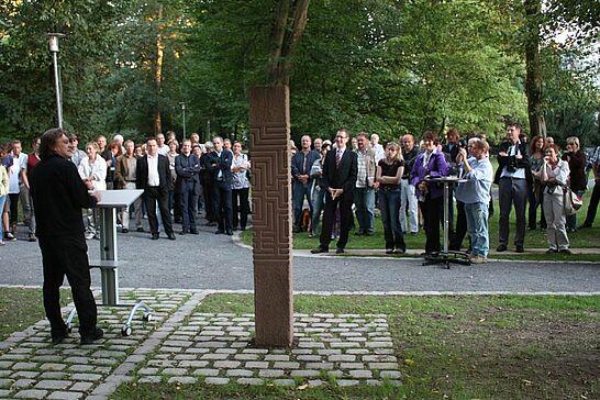 05 Fingerlabyrinth & Lapidarium - Einweihung des weltweit ersten dreidimensionalen Fingerlabyrinths & des Lapidariums im Schlossgarten. (22 Fotos)
