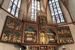 Altarraum der Kirche St. Peter und Paul in Durlach. Foto: cg