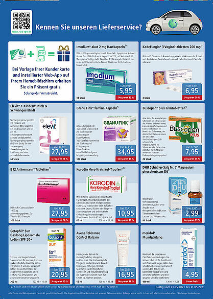 Rundum gesund Apotheken: Angebote im Mai 2021. Grafik: pm
