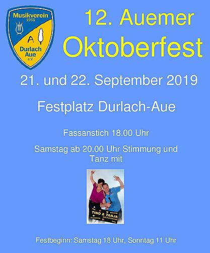 12. Auemer Oktoberfest. Grafik: pm