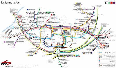 Der neue Karlsruher Liniennetzplatz für 2021. Grafiken: VBK