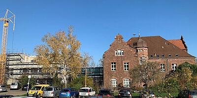 Laborneubau auf dem Areal des Landwirtschaftlichen Technologiezentrums Augustenberg (LTZ). Foto: Bernhard Rapp / Weindel Architekten