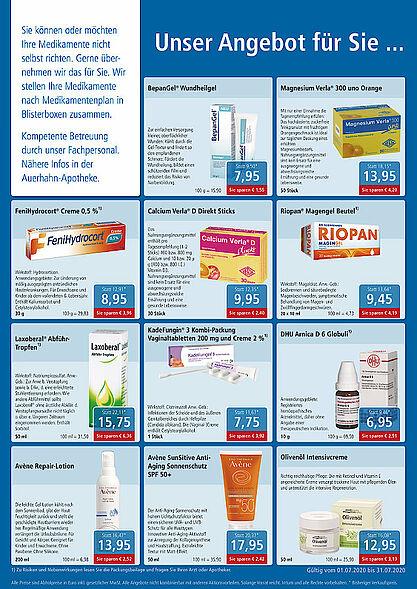 Rundum gesund Apotheken: Aktionen und Angebote im Juli 2020. Grafik: pm