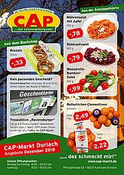 CAP-Markt Durlach: Angebote im Dezember 2018. Grafik: pm