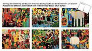 Sechs Motive umfasst das Postkarten-Set der Schloss-Schule Durlach. Grafik: pm