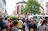 Startpunkt: hubRäumle am Marktplatz Durlach. Foto: cg