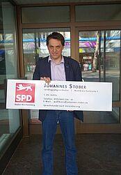 """Nach 10 Jahren Abgeordnetentätigkeit: Stober (SPD) sagt dankbar """"Auf Wiedersehen"""". Foto: cg"""