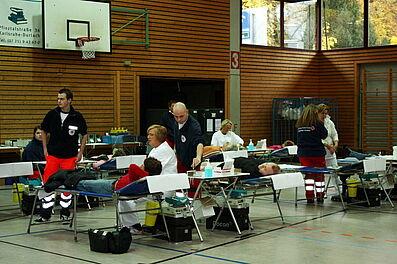 Blutspendeaktion in der Weiherhalle
