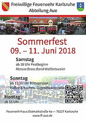 Sommerfest 2018 der Freiwilligen Feuerwehr Aue. Grafik: pm