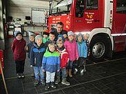 Kleiner Besuch bei der Freiwilligen Feuerwehr. Foto: pm