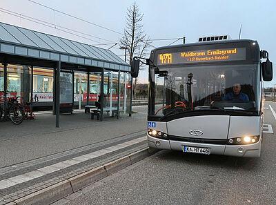 Abfahrt der Buslinie 47A am Zündhütle. Foto: Roland Jourdan