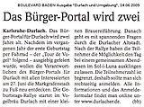 Boulevard Baden - Ausgabe Durlach und Umgebung | 14. Juni 2009