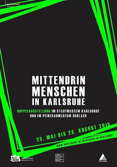 Mittendrin. Menschen in Karlsruhe. Grafik: pgm
