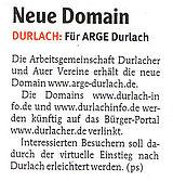 Wochenblatt - Ausgabe Durlach & Region | 14. Januar 2009