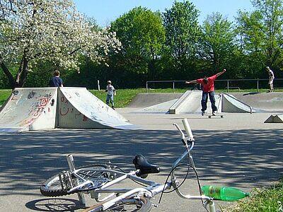 Skateplatz Durlach-Killisfeld. Foto: cg