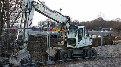 Bau der Fernwärmeleitung an der A5 – nun folgen weitere Bauabschnitte. Foto: cg