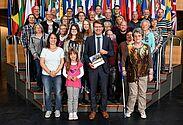 Närrischer Besuch im Europapaparlament in Straßburg. Foto: pm