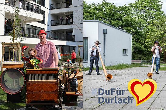 09 #DuFürDurlach – Musiker spielen für Senioren - Drehorgelspieler Markus Leyerle und die Alphorngruppe SennerJazz erfreuten in der Corona-Zeit mit ihrer Musik. (2 Videos)