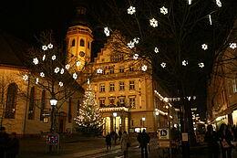 Der Durlach Marktplatz in der Adventszeit. Foto: cg