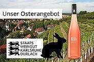 Staatsweingut Karlsruhe-Durlach: Unser Osterangebot. Grafik: pm