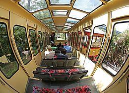 Turmbergbahn: Kabine. Foto: cg