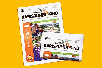 Karlsruher Kind: Ausgabe August 2020. Grafik: pm
