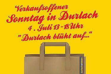 Verkaufsoffener Sonntag am 4. Juli in Durlach. Grafik: pm