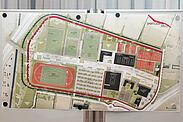 """Der vorläufige städtebaulich-landschaftsplanerische Entwurf für den """"Sportcampus"""" wurde vorgestellt. Fotos: cg"""