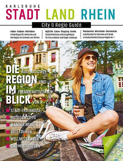 Die Metropolregion Karlsruhe kompakt in einem Magazin. Grafik: pm