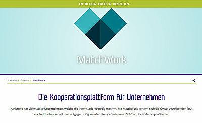 MatchWork – Die Kooperationsplattform für Unternehmen. Grafik: kme/Bearbeitung: om
