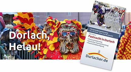 Durlacher Flyer zur Fastnachtszeit. Grafik: cg
