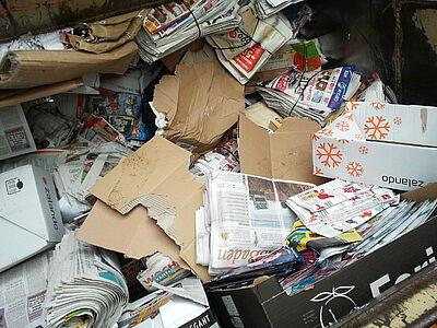 Besondere Altpapiersammlung der Ministranten. Foto: cg