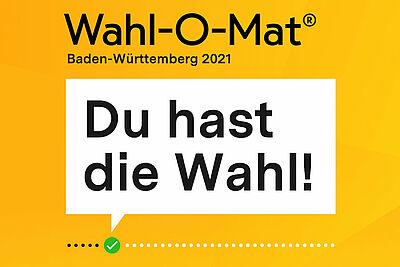 Wahl-O-Mat zur Landtagswahl in Baden-Württemberg 2021. Grafik: bpb