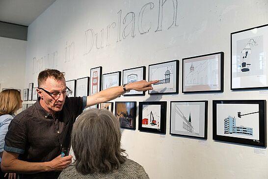 """16 Steve Faraday: Drawn in Durlach (Vernissage) - """"Urban Sketching"""" – das ist Zeichnen vor Ort von allem, was in einer Stadt existiert und passiert. (26 Fotos)"""