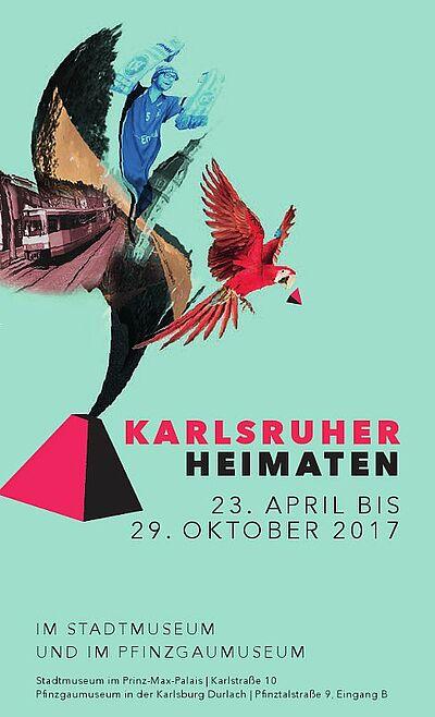 Karlsruher Heimaten – Doppelausstellung im Rahmen der Heimattage Baden-Württemberg . Grafik: pm