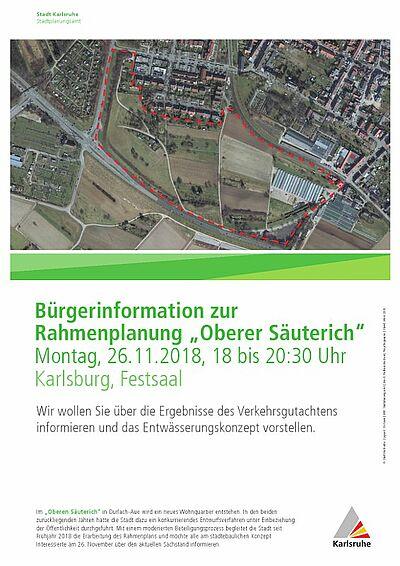 """Bürgerforum zum Rahmenplan """"Oberer Säuterich"""". Grafik: pia"""