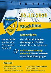 Neue Blockflötengruppe beim MV Durlach-Aue. Grafik: pm