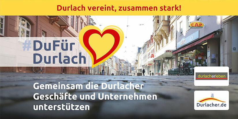 #DuFürDurlach: Gemeinsam die Durlacher Geschäfte und Unternehmen unterstützen. Foto: cg