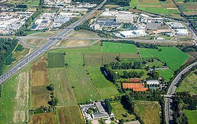 Untere Hub: Noch sind nicht alle erforderlichen Grundstücke im städtischen Besitz – ein Umlegungsverfahren wäre möglich. Foto: Helfer/wobla