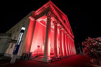 Corona-bedingt wird eine begrenzte Zahl an Platzkarten für das Konzerthaus herausgegeben. Foto: cg