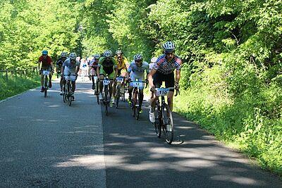 Über 1,8 km Strecke ging es hinauf auf den Durlacher Hausberg. Fotos: Debertin/Schwenke